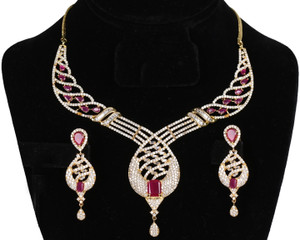 ruby stone Bollywood Necklace