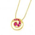 small Fuchsia Pendant fashion jewelry for women and girls