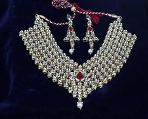 Heavy kundan bridal necklace