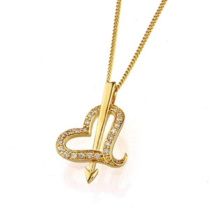 18K017-18 karat Gold plated Heart shaped pendant