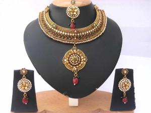 Bollywood Designer Indian Wedding Bridal Party Wear Fashion Jewelry Necklace Set