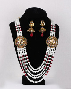 Rajwadi multi strand designer necklace set