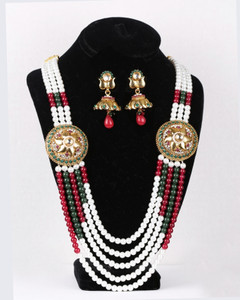 rajwadi kundan necklace with attractive jhumki