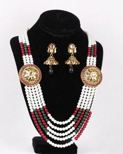 Colorful rajwadi necklace jewellery