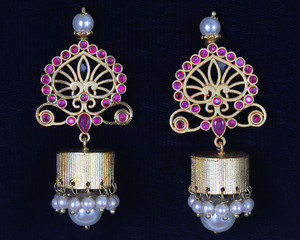 Ruby Jhumka Earrings