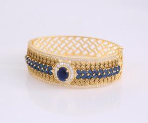 Sapphire Blue Stones bangles