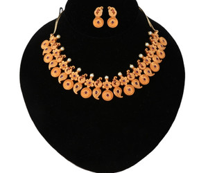 Latest Gold tone Mango haram designs