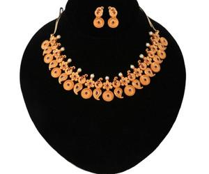 Latest Gold tone Mango haram designs