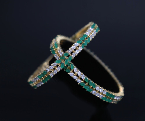 jewellery by designs hazoorilal diamond bangles emerald