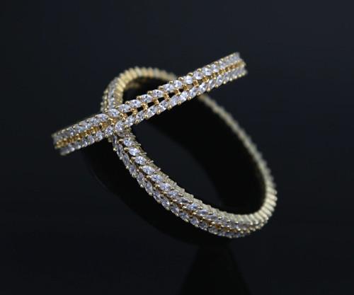 Gorgeous American Diamond bangle set