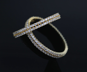 Gorgeous American Diamond bangle set