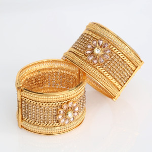 Indian Bollywood Designer Gold Plated Bridal Pearls Fashion Jewelry Bangles/Kada