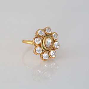 Gold Tone Adjustable Ring Indian Women Ethnic Designer Jewelry