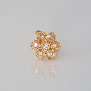 Gold plated bollywood style stunning Ring.