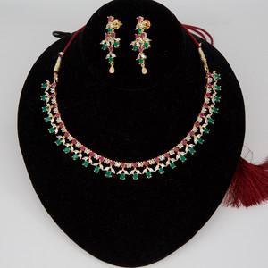 22k American Diamond Necklace
