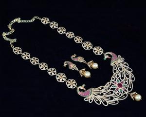 Peacock designed necklace