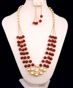 Garnet beaded necklace