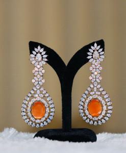 Women fashion Long CZ earrings,  Indian Bollywood earrings, Indian Earrings