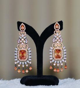 Topaz stone studded earrings
