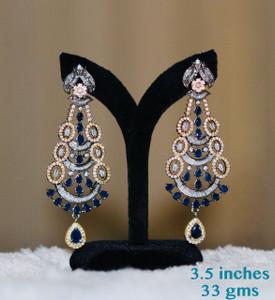 Sapphire Blue stone earrings