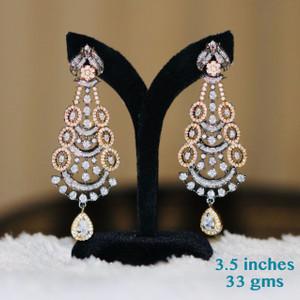 Clear stone earrings