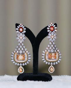Yellow Topaz stone earrings