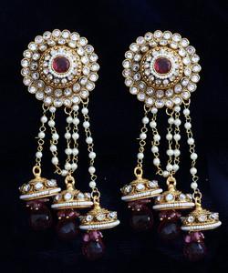 Light Pink jhumaka earrings