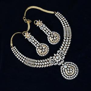 Cubic Zirconia Pendant Necklace set