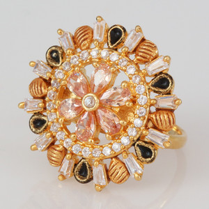 Adjustable Finger Ring studded with high quality CZ