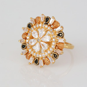 Engagement ring cubic zirconia in 1 gm gold