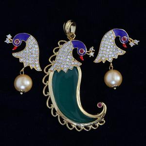 Tiger nail crystal pendant