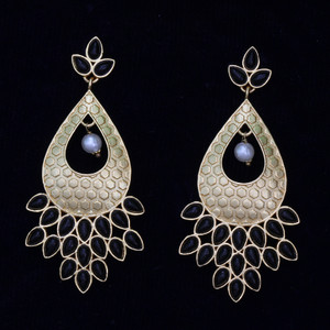 Black stone earrings