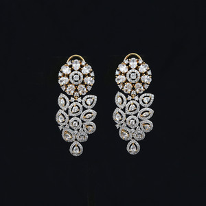 Exclusive AD cubic zircon fancy earring  Bollywood style imitation jewelry.