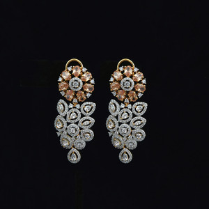 New Fashion earrings | Imperial Topaz |For women 18K gold plated