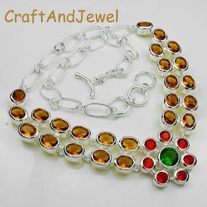 925 Silver Fashion multistone necklace  Jewelry