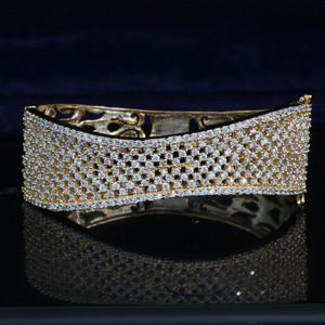 Indian Jewellery Hand Bracelet Cuff Girls Clear Stone