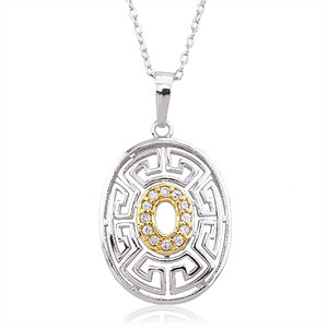 Brass with Rhodium-plated pendant fashion jewelry for women