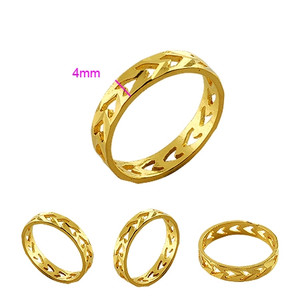 Ladies fashion Jewelry 18K gold plated Ring