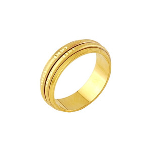 Ladies costume Jewelry 18K gold plated Ring size 7