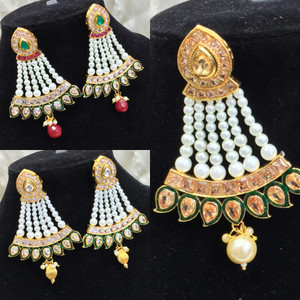Indian Bollywood imitation Jewellery earrings kundan Stone Polki designer