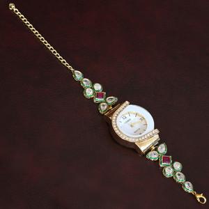 New Arrival Fashion Rhinestone Gold plated Classic Ladies Bracelet Watch