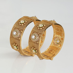 Indian Bollywood Gold Plated Bangles Bracelet Kada Set For Womens and Girls