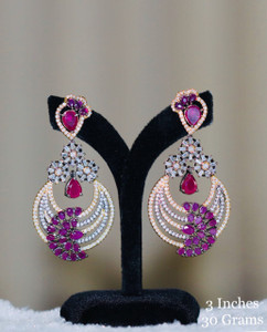 Chandbali Earrings with Ruby Stones