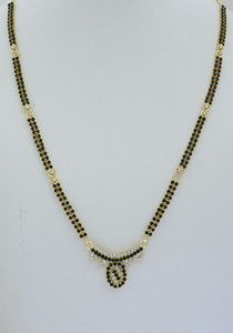 White and Black stone studded Mangalsutra -08MAS21