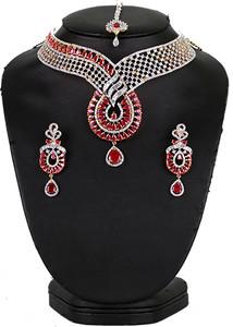 Fuchsia stone fashion necklace