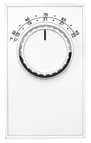 TH-ET5 Line Voltage Thermostat, Single Pole with leads, 22 Amp, Heat only Thermostat 24- 277 Operating Voltage