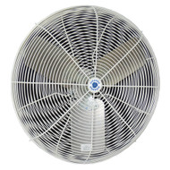 24CFO  24 in. OSHA Compliant Fixed Circulation Fan These 2-speed fans have the versatility to be mounted on a ceiling, wall, pedestal or cart, which makes them the ideal cooling solution for any commercial, industrial or agricultural facility.