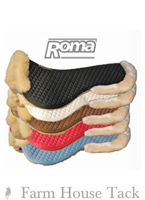 Roma Natural Fleece Rolled Edge Half Pads In 5 Colors