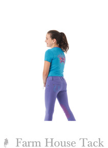 Ovation Child's Horseshoe Pull On Knee Patch Jean Breeches
