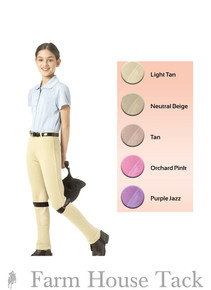 *Equistar Child's Lauren Pull On Knee Patch Jodhpurs